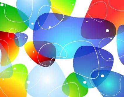 free vector Abstract Colorful Glossy Vector Background