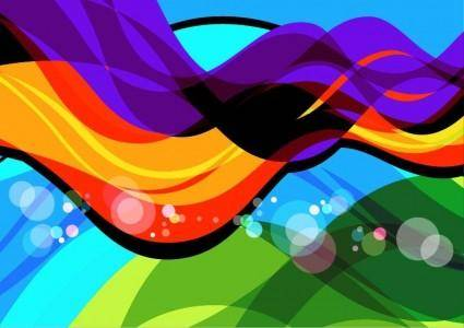 free vector Abstract Colorful Wave Art Vector