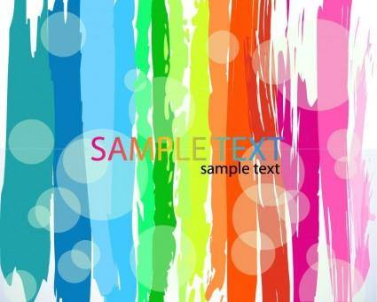 Abstract Rainbow Color Vector Background