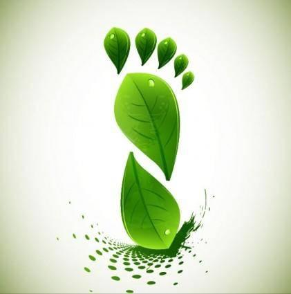 Green leaf shape border 01 vector