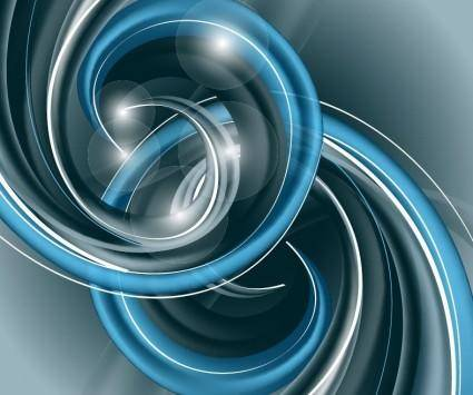 Abstract Blue Helix Vector Background