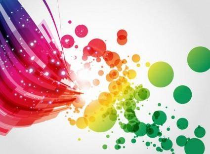 Abstract Colorful Vector Background Art 21912