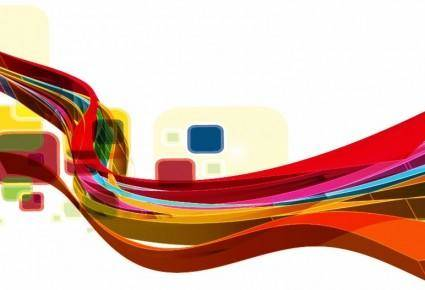 Abstract Wave Design Vector Background Art