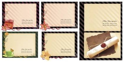 Old stationery template vector series 5