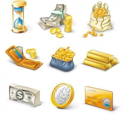 free vector Gold brick notes vector
