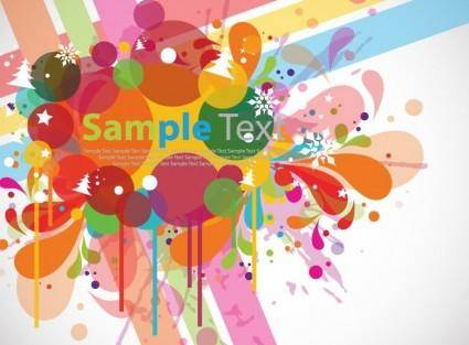free vector Abstract Colorful Design Background Vector
