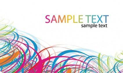free vector Vector Abstract Color Card