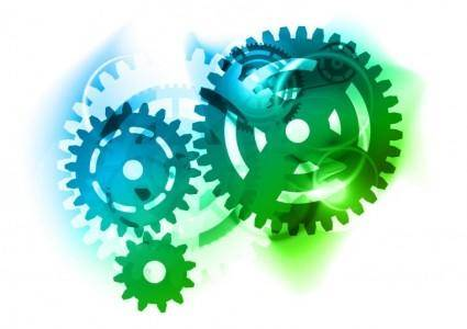 free vector Abstract Color Gears Vector Graphic