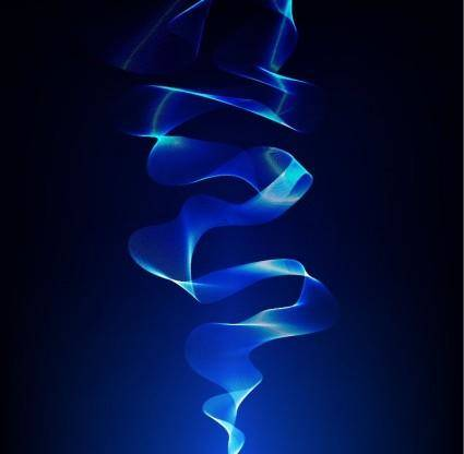 free vector Abstract Smoke Blue Vector Background