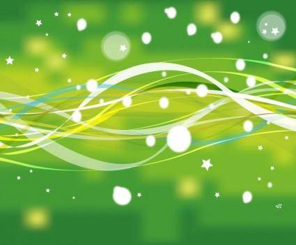 free vector Abstract Green Nature Line with Stars Vector Background