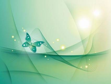 Abstract Backgorund with Butterfly Vector