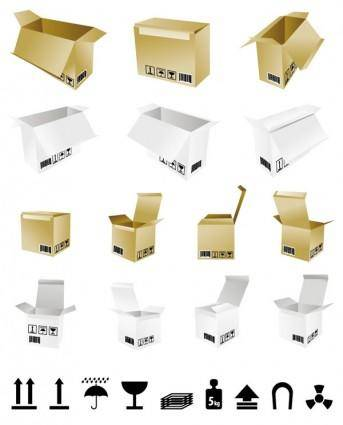 Cartons and shipping identification vector