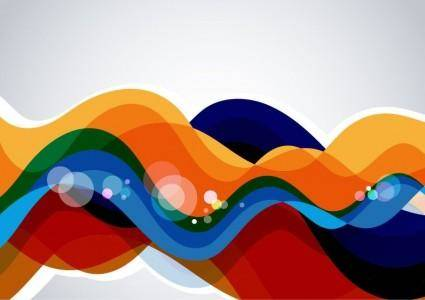 free vector Colorful Wave Abstract Background