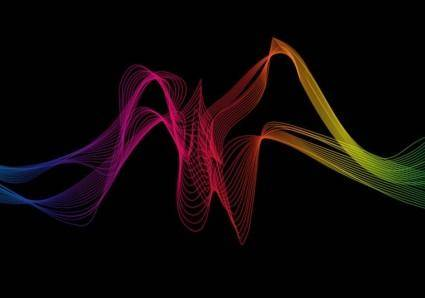 free vector Abstract Colorful Wave Background