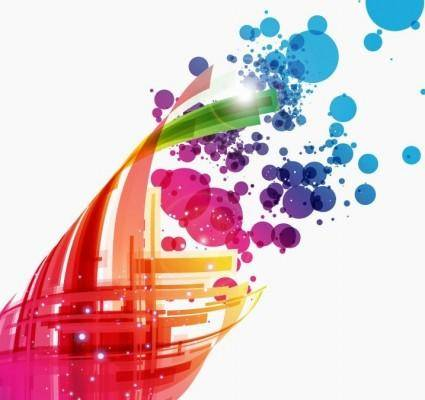 free vector Colorful Abstract Design Background Vector Art