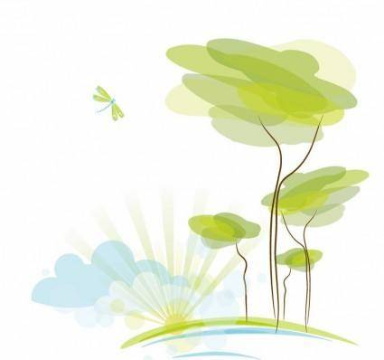 free vector Abstract Nature Background Vector Illustration