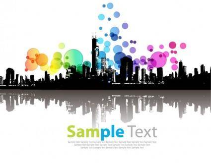 Abstract Modern City Vector Illustration