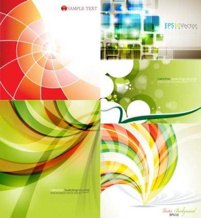 Fresh and dynamic posters vector