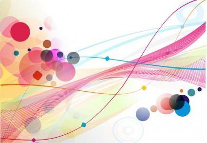 free vector Abstract Colourful Circle Wave Line Background