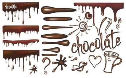 free vector Chocolate liquid vector