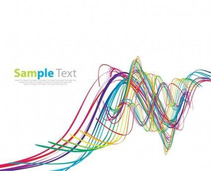 free vector Abstract Rainbow Wave Vector Art