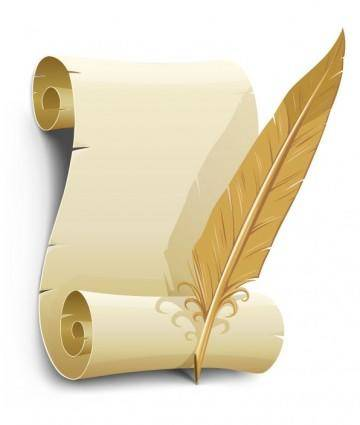 free vector Vector old paper with quill pen