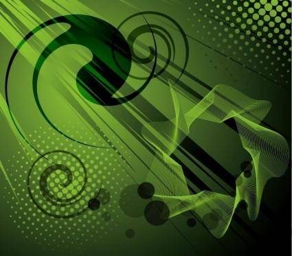 free vector Abstract Green Vector Background