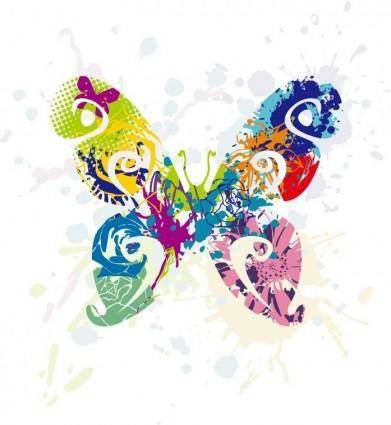 Abstract Butterfly Vector Graphic