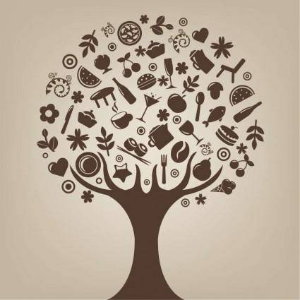 Abstract Tree Vector Art