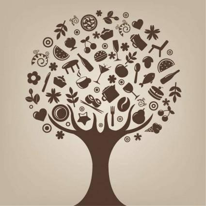 free vector Abstract Tree Vector Art