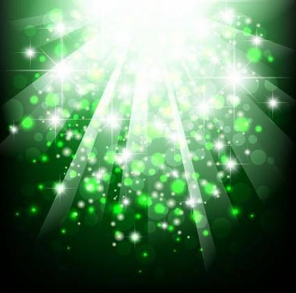 Green Bokeh Abstract Light Background Vector Illustration