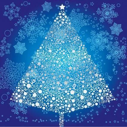 free vector Abstract Christmas Tree with Snowflake Vector Art