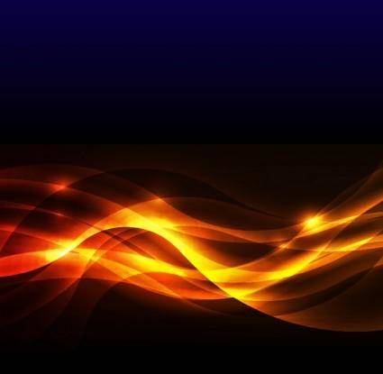 free vector Abstract Golden Glow Background Vector Illustration
