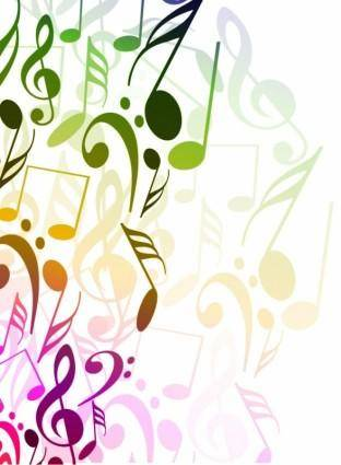 free vector Abstract Background with Tunes Vector Illustration