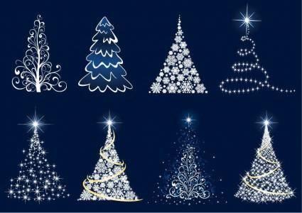 free vector Abstract Christmas Tree Vector Set