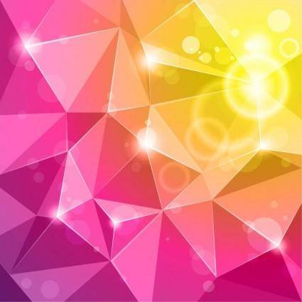 free vector Vector Crystal Abstract Background