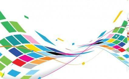 free vector Abstract Wavy Design Colorful Background Vector