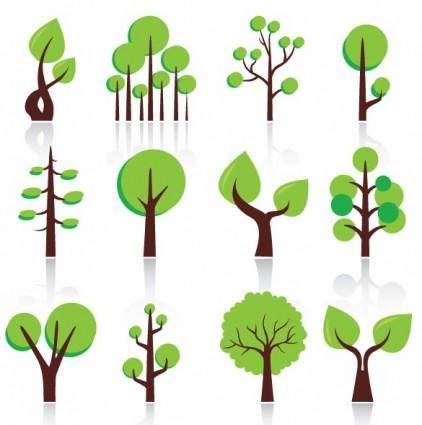 free vector Free Vector Abstract Trees