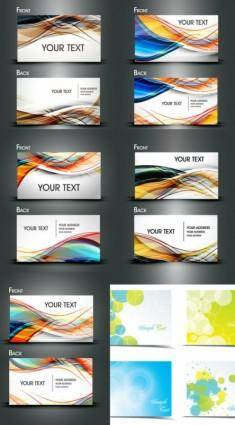 Dynamic flow line business card template vector