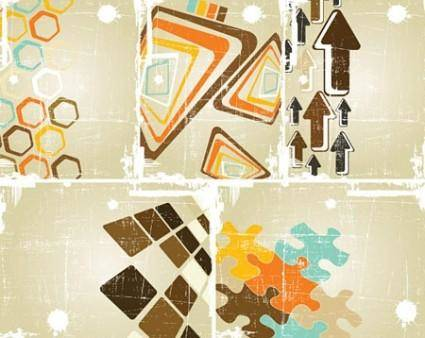 Vector Grungy Abstract Backgrounds