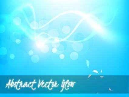 free vector Vector Abstract Blue Glow