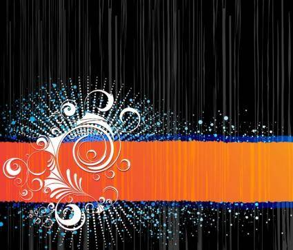 Abstract Background with Ornament Vector