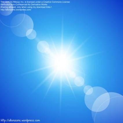 free vector Abstract Sunny Blue Sky Background