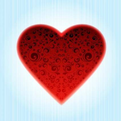 Abstract Ornamented Heart Vector 22192