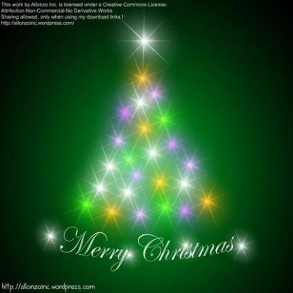 free vector Abstract Christmas Tree Background
