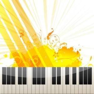 free vector Piano Keys on Abstract Background