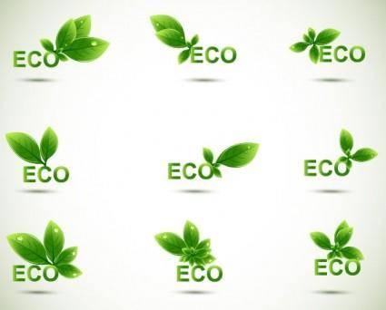 Green leaf shape border 04 vector
