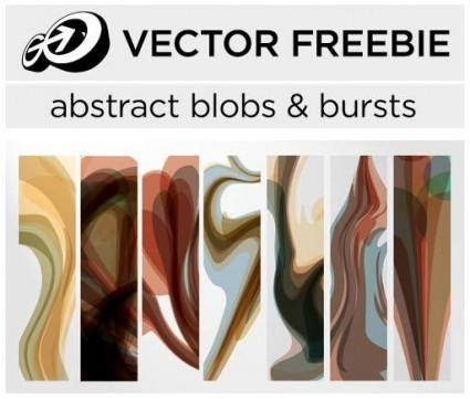 free vector Abstract blobs & bursts