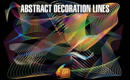 free vector Abstract Decoration Lines