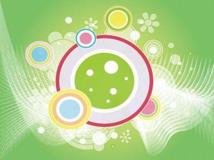 free vector Abstract Retro Green